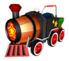 Barrel Train Sticker