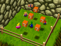 The minigame Coin Block Blitz.