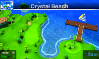 Hole 6 of Crystal Beach from Mario Sports Superstars
