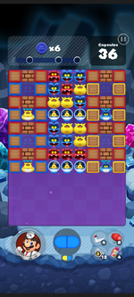Stage 485 from Dr. Mario World