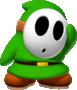 Green Shy Guy from Mario Kart Tour