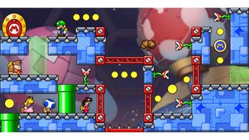 Miiverse screenshot of the 37th official level in the online community of Mario vs. Donkey Kong: Tipping Stars