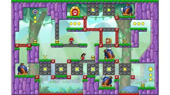 Miiverse screenshot of the 8th official level in the online community of Mario vs. Donkey Kong: Tipping Stars