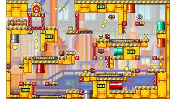 Miiverse screenshot of the 96th official level in the online community of Mario vs. Donkey Kong: Tipping Stars