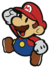 Mario's jumping sprite from Paper Mario: Color Splash