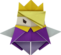 Character artwork for King Olly from Paper Mario: The Origami King