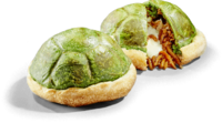Green Shell Calzone Filled with Yakisoba & Cheese from Super Nintendo World
