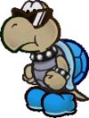 A Shady Koopa as he appears in Paper Mario: The Thousand-Year Door.