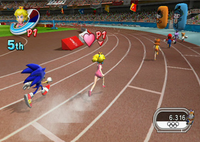 The 400m event.