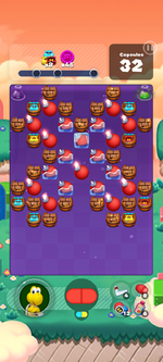 Stage 586 from Dr. Mario World