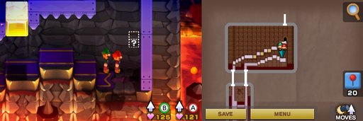 Location of the last hidden block in Bowser's Castle. Also last in the game.