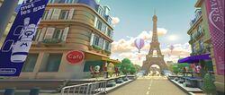 View of Paris Promenade 3 in Mario Kart Tour