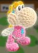 princess peach amiibo yoshi from yoshi's woolly world