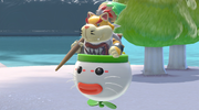 Screenshot of Bowser Jr. after the credits have been viewed at least once in Super Mario 3D World + Bowser's Fury