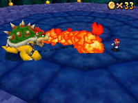 Bowser in the N64 version (left) and the DS version (right)
