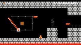 1-4 Remix (Castle) level in Super Mario Maker