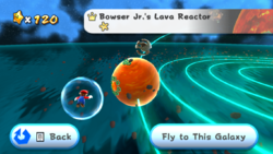 Bowser Jr.'s Lava Reactor in the game Super Mario Galaxy.