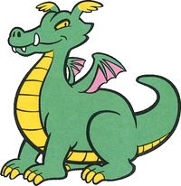 Artwork of Drago from the NES version of Wario's Woods