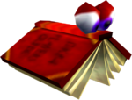 In-game render of a Book from Donkey Kong 64