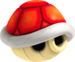 Artwork of a Red Shell, from Mario Kart Wii.