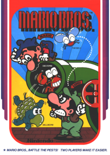 Arcade flyer for Mario Bros..