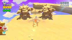 Plessie's Dune Downhill in the game Super Mario 3D World