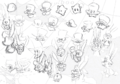 SMO Concept Art Cappy (Luma and Rabbit Sketches).png