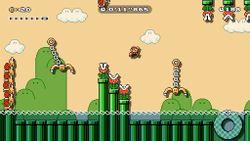 Swinging Claw Flyway, the sixth level of Ninji Speedruns in Super Mario Maker 2.