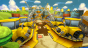 View of Toad's Factory in Mario Kart Wii