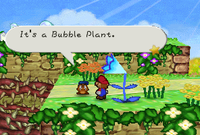 The Bubble Plant from Paper Mario.