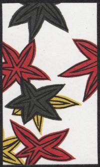 Third card of October in the Club Nintendo Hanafuda deck.