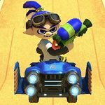 Inkling Boy performing a trick.