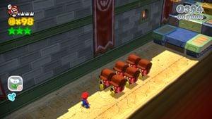 Luigi sighting in Bowser's Bullet Bill Brigade in Super Mario 3D World.