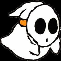 Artwork of a Boo Guy from Super Mario World 2: Yoshi's Island