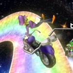Waluigi performing a Trick in Mario Kart Wii
