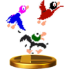 Duck trophy from Super Smash Bros. for Wii U