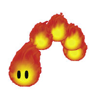 A Fire Snake in New Super Mario Bros. 2
