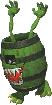 Artwork of a Knocka from Donkey Kong Country 3: Dixie Kong's Double Trouble!