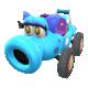 Light-blue Turbo Birdo from Mario Kart Tour