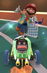 Mario (Sunshine) performing a trick.