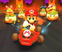 The icon of the Luigi Cup's challenge from the Hammer Bro Tour in Mario Kart Tour.