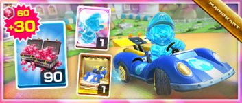 The Blue Seven Pack from the Marine Tour in Mario Kart Tour