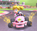 The icon of the Mario Cup challenge from the Super Mario Kart Tour and the Waluigi Cup challenge from the Sunset Tour in Mario Kart Tour.