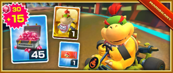 The Bowser Jr. Pack from the Ice Tour in Mario Kart Tour