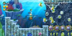 Urchin Reef Romp from New Super Luigi U.