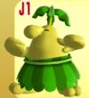 Yellow Pianta from Mario Super Sluggers