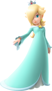 Artwork of Rosalina used in Mario Party: The Top 100, Mario Kart Tour and Mario & Sonic at the Olympic Games Tokyo 2020.