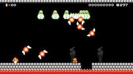 Festival of Fire level in Super Mario Maker