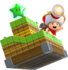 Artwork of Captain Toad with a Green Star, from Super Mario 3D World.