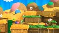 Screenshot of Yarn Yoshi Takes Shape!, from Yoshi's Woolly World.
